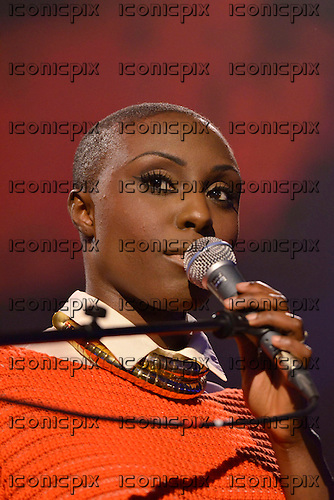 LAURA MVULA - performing live at the iTunes Festival at The Roundhouse in London UK - 16 Sep 2012.  Photo credit: George Chin/IconicPix