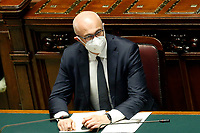 The Minister for the relations with Parliament Federico D'Inca' wears a face mask during the Question time at the Chamber of Deputies. Rome (Italy), July 1st 2020<br /> Foto Samantha Zucchi Insidefoto