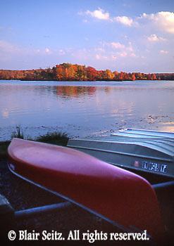 Pocono lakes, canoe, fall, Pike Co., NE PA