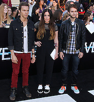 "WESTWOOD, LOS ANGELES, CA, USA - MARCH 18: Matthew Koma, Miriam Bryant, Zedd at the World Premiere Of Summit Entertainment's ""Divergent"" held at the Regency Bruin Theatre on March 18, 2014 in Westwood, Los Angeles, California, United States. (Photo by Xavier Collin/Celebrity Monitor)"