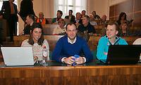 30-01-2014,Czech Republic, Ostrava, Cez Arena, Davis Cup, Czech Republic vs Netherlands, draw, The Dutch reporters team from Tennis.nl <br /> Photo: Henk Koster