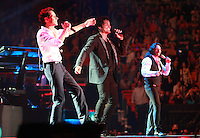 MIAMI, FL - AUGUST 3, 2012: Marc Anthony, Chayanne and Marco Antonio Solis during the Gigant3s concert featuring, Marc Anthony, Chayanne and Marco Anotonio Solis at the American Airlines Arena in Miam, Florida. August 3, 2012. © Majo Grossi/MediaPunch Inc. /NortePhoto.com<br />