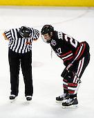 Penalty shot - Alex Tuckerman (NU - 27) - The Boston College Eagles defeated the Northeastern University Huskies 5-1 on Saturday, November 7, 2009, at Conte Forum in Chestnut Hill, Massachusetts.