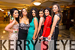 Casey Danes, Kelly Herlihy, Robin Fitzgibbon, Jia Moriarty, Zoe James enjoying the Castlegregory Secondary School Debs at the Brandon Hotel on Saturday