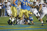 1 October 2006: Will Powers records his first sack during Stanford's 31-0 loss to UCLA at the Rose Bowl in Pasadena, CA.