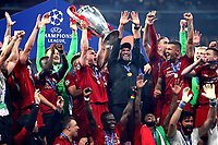 James Milner of Liverpool of Liverpool holds the trophy as he celebrates with team mates the victory of the Champions League <br /> Madrid 01-06-2019 Estadio Wanda Metropolitano, <br /> Football UEFA Champions League 2018/2019<br /> Final 2019 <br /> Tottenham - Liverpool <br /> Foto Cesare Purini / Insidefoto