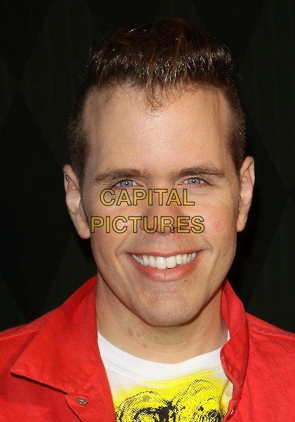 "PEREZ HILTON.Perez Hilton's  ""One Night  in Los Angeles""  held at the Wiltern Theatre, Los Angeles, California, USA, .11th September 2010..portrait headshot smiling red .CAP/ADM/TC.©T. Conrad/AdMedia/Capital Pictures."