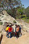Israel, Shephelah. Ancient tombs at the Valley of the Springs in Park Canada