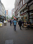 Shops and cafes in Oude Binnenweg street, Rotterdam, Netherlands
