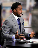 ATLANTA, GA - DECEMBER 7: Desmond Howard at ESPN College Game Day during a game between Georgia Bulldogs and LSU Tigers at Mercedes Benz Stadium on December 7, 2019 in Atlanta, Georgia.