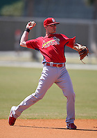 March 19, 2010:  Shortstop Brendan Ryan (13) of the St. Louis Cardinals organization during Spring Training at the Roger Dean Stadium Complex in Jupiter, FL.  Photo By Mike Janes/Four Seam Images