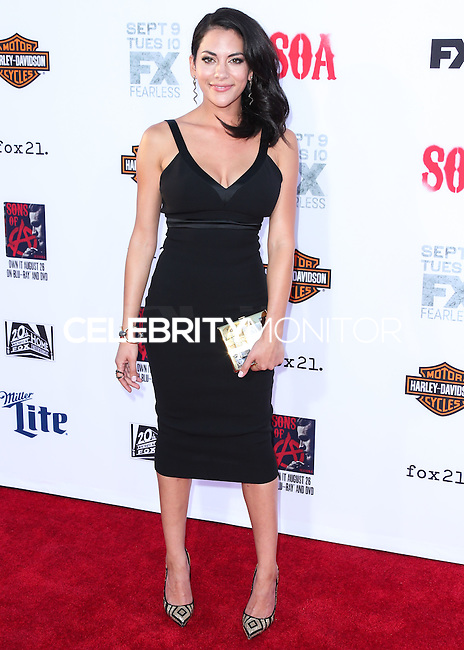 HOLLYWOOD, LOS ANGELES, CA, USA - SEPTEMBER 06: Actress Inbar Lavi arrives at the Los Angeles Premiere Of FX's 'Sons Of Anarchy' Season 7 held at the TCL Chinese Theatre on September 6, 2014 in Hollywood, Los Angeles, California, United States. (Photo by Xavier Collin/Celebrity Monitor)