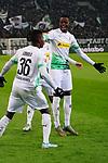 01.12.2019, Borussia Park , Moenchengladbach, GER, 1. FBL,  Borussia Moenchengladbach vs. SC Freiburg,<br />  <br /> DFL regulations prohibit any use of photographs as image sequences and/or quasi-video<br /> <br /> im Bild / picture shows: <br /> Torjubel / Jubel / Jubellauf,    3:1 Denis Zakaria (Gladbach #8), Breel Embolo (Gladbach #36),  <br /> <br /> Foto © nordphoto / Meuter