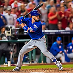 6 October 2017: Chicago Cubs third baseman Kris Bryant in action during the first game of the NLDS against the Washington Nationals at Nationals Park in Washington, DC. The Cubs shut out the Nationals 3-0 to take a 1-0 lead in their best of five Postseason series. Mandatory Credit: Ed Wolfstein Photo *** RAW (NEF) Image File Available ***
