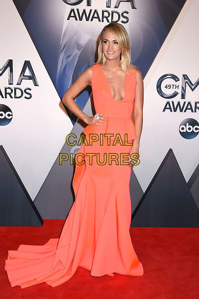 4 November 2015 - Nashville, Tennessee - Carrie Underwood. 49th CMA Awards, Country Music's Biggest Night, held at Bridgestone Arena. <br /> CAP/ADM/LF<br /> &copy;LF/ADM/Capital Pictures