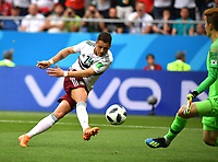 (180623) -- ROSTOV-ON-DON, June 23, 2018 -- Javier Hernandez of Mexico shoots to score during the 2018 FIFA World Cup WM Weltmeisterschaft Fussball Group F match between South Korea and Mexico in Rostov-on-Don, Russia, June 23, 2018. ) (SP)RUSSIA-ROSTOV-ON-DON-2018 WORLD CUP-GROUP F-SOUTH KOREA VS MEXICO LixGa PUBLICATIONxNOTxINxCHN  <br /> ROSTOV-ON-DON 23-06-2018 Football FIFA World Cup Russia  2018 <br /> South Korea - Mexico / Corea del Sud - Messico<br /> Foto Xinhua/Imago/Insidefoto