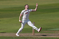 Sam Cook in bowling action for Essex during Warwickshire CCC vs Essex CCC, Specsavers County Championship Division 1 Cricket at Edgbaston Stadium on 10th September 2019