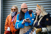 Caillianne Beckerman, Susie Bubble & Sam Beckerman attend day 6 of New York Fashion Week on Feb 17, 2015 (Photo by Hunter Abrams/Guest of a Guest)