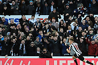 Matt Ritchie of Newcastle United celebrates scoring the opening goal of the game during Newcastle United vs Manchester United, Premier League Football at St. James' Park on 11th February 2018