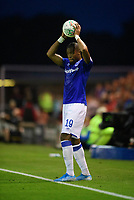 Everton's Djibril Sidibe<br /> <br /> Photographer Chris Vaughan/CameraSport<br /> <br /> The Carabao Cup Second Round - Lincoln City v Everton - Wednesday 28th August 2019 - Sincil Bank - Lincoln<br />  <br /> World Copyright © 2019 CameraSport. All rights reserved. 43 Linden Ave. Countesthorpe. Leicester. England. LE8 5PG - Tel: +44 (0) 116 277 4147 - admin@camerasport.com - www.camerasport.com