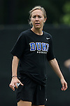 30 August 2015: Duke assistant coach Jane Alukonis. The Duke University Blue Devils hosted the William & Mary University Tribe at Koskinen Stadium in Durham, NC in a 2015 NCAA Division I Women's Soccer game. Duke won the game 2-0.
