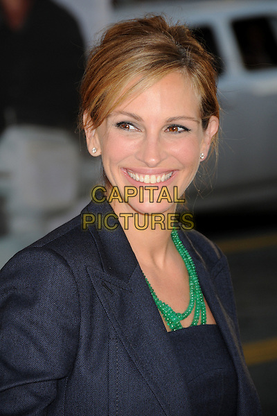 "Julia Roberts.""Larry Crowne"" Los Angeles Premiere held at Grauman's Chinese Theatre.  Hollywood, California, USA..27th June 2011.headshot portrait black green beads necklace  smiling .CAP/ADM/BP.©Byron Purvis/AdMedia/Capital Pictures."