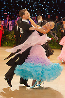 Arunas Bizokas and Katusha Demidova of USA perform their dance during the professional ballroom competition of the UK Open Dance Championships held in Bournemouth International Centre. Organised by Dance News Special Events Ltd. in Bournemouth, Great Britain on January 21, 2009. ATTILA VOLGYI