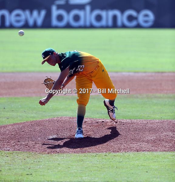 Brett Hansen plays in the 2017 Area Code Games on August 6-10, 2017 at Blair Field in Long Beach, California (Bill Mitchell)