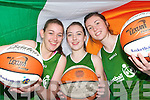 .HOOP STARS: Abbeyfeale basketball stars who are members of the Irish Basketball Under 15 and Under 16 Panels .L/r. Rachel Collins (Knocknagoshel),    . Eabhnait Scanlon (Duagh) and Lorraine Scanlon (Knocknagoshel)  .   Copyright Kerry's Eye 2008