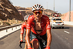 Danny Pate (USA) Rally Cycling feels the heat during Stage 4 of the 2018 Tour of Oman running 117.5km from Yiti (Al Sifah) to Ministry of Tourism. 16th February 2018.<br /> Picture: ASO/Muscat Municipality/Kare Dehlie Thorstad   Cyclefile<br /> <br /> <br /> All photos usage must carry mandatory copyright credit (&copy; Cyclefile   ASO/Muscat Municipality/Kare Dehlie Thorstad)