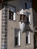 Haus Vulpius in Flan, Scuol, Unterengadin, Graubünden, Schweiz, Europa<br /> House Vulpius in Flan, Scuol, Engadine, Grisons, Switzerland