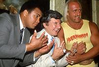 #MuhammedAli #Liberace #HulkHogan 1985<br /> Photo By Adam Scull/PHOTOlink.net
