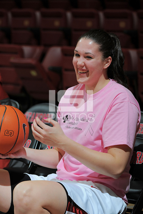 STANFORD, CA - FEBRUARY 14:  Forward Sarah Boothe #42 of the Stanford Cardinal during Stanford's 58-41 win against the California Golden Bears on February 14, 2009 at Maples Pavilion in Stanford, California.
