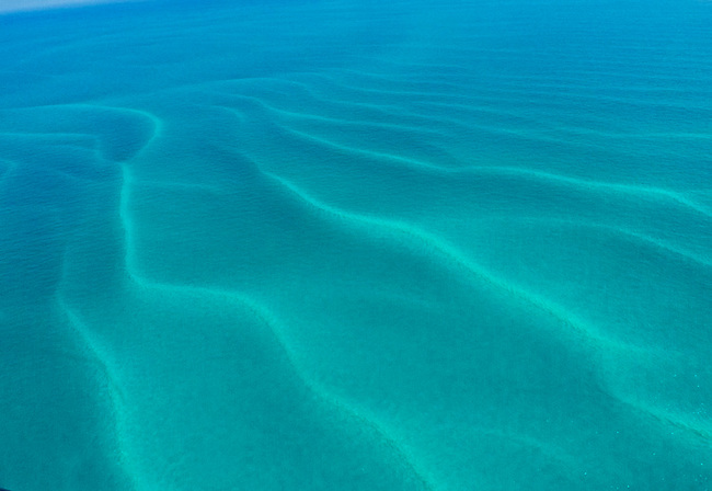 Sand bar patterns near Key West