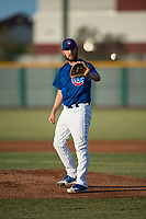 AZL Cubs 1 starting pitcher Corey Black (43) waits to receive the ball back from the catcher during a rehab assignment in an Arizona League game against the AZL Padres 1 at Sloan Park on July 5, 2018 in Mesa, Arizona. The AZL Cubs 1 defeated the AZL Padres 1 3-1. (Zachary Lucy/Four Seam Images)