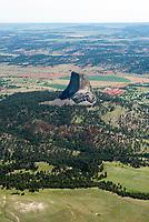 Devil's Tower. Aerial.