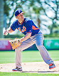 13 March 2014: New York Mets third baseman David Wright warms up prior to a Spring Training game against the Washington Nationals at Space Coast Stadium in Viera, Florida. The Mets defeated the Nationals 7-5 in Grapefruit League play. Mandatory Credit: Ed Wolfstein Photo *** RAW (NEF) Image File Available ***