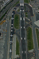 aerial photograph LaGuardia airport Queens, New York City