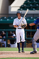 Detroit Tigers Danny Woodrow (22) at bat during an Instructional League game against the Toronto Blue Jays on October 12, 2017 at Joker Marchant Stadium in Lakeland, Florida.  (Mike Janes/Four Seam Images)