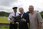 Chief Superintendent Fergus Healy, Lord Henry Mountcharles and MCD event co-ordinator Eamon Fox at the Slane Castle Trafic Management Press Conference for Metallica concert at Slane Castle, Meath, Ireland. 30/05/2019.<br /> Picture Fran Caffrey / Newsfile.ie<br /> <br /> All photo usage must carry mandatory copyright credit (© Newsfile | Fran Caffrey)
