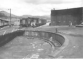 Scene near Durango turntable.  Tourist cars, tenders, speeders.<br /> D&amp;RGW  Durango, CO