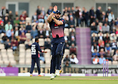 29th September 2017, Ageas Bowl, Southampton, England; One Day International Series, England versus West Indies; Liam Plunkett of England warms up between overs