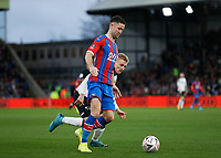 5th January 2020; Selhurst Park, London, England; English FA Cup Football, Crystal Palace versus Derby County; Gary Cahill of Crystal Palace is marked by Louie Sibley of Derby County - Strictly Editorial Use Only. No use with unauthorized audio, video, data, fixture lists, club/league logos or 'live' services. Online in-match use limited to 120 images, no video emulation. No use in betting, games or single club/league/player publications