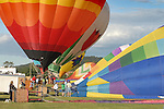 Hot air balloons take flight during the Rotary Festival Saturday at the Lycoming County Fairgrounds.
