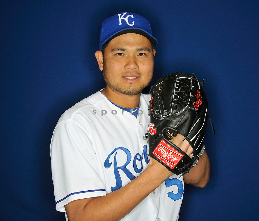 Kansas City Royals Bruce Chen (52) during media photo day on February 21, 2013 at spring training in Surprise, AZ.