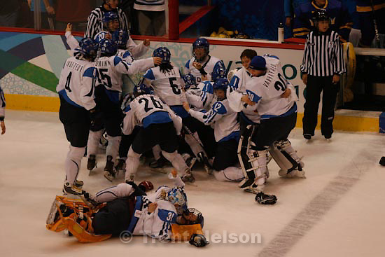 Trent Nelson  |  The Salt Lake Tribune.Finland defeats Sweden 3-2 for the bronze medal, women's Ice Hockey at the Canada Hockey Place, Vancouver, XXI Olympic Winter Games, Thursday, February 25, 2010.