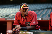 Arizona Diamondbacks outfielder Justin Williams (19) before an Instructional League game against the Oakland Athletics on October 10, 2014 at Chase Field in Phoenix, Arizona.  (Mike Janes/Four Seam Images)