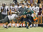 Torrance, CA 10/09/15 - Gabe Zuniga (South #13) and Tyler Maseuli (Torrance #5) in action during the Torrance vs South High varsity football game.  South defeated Torrance 24-21.