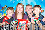 Jacqui and Gavin Lythgoe from Buddies Play Centre, Killarney, with Chernobyl children.Vlad Mewko (left) and Alexander Gopuuebcknn, who are appealing for people to.donate their lego for the Chernobyl Childrens project