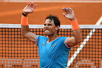 Rafael Nadal of Spain celebrates after winning the men's final match against Novak Djokovic of Serbia. Rafael Nadal won 6-0, 4-6, 6-1 <br /> Roma 19/05/2019 Foro Italico  <br /> Internazionali BNL D'Italia Italian Open <br /> Photo Andrea Staccioli / Insidefoto